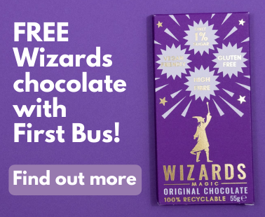 Free Wizards chocolate with First Bus