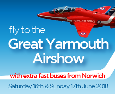 get to the Great Yarmouth airshow by bus
