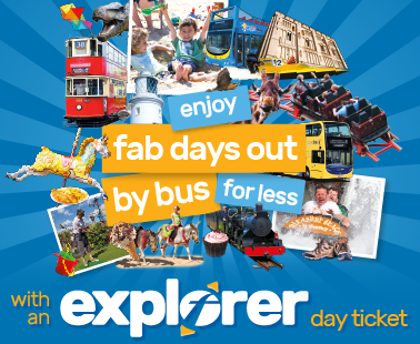 enjoy fab days out by bus for less with an explorer day ticket