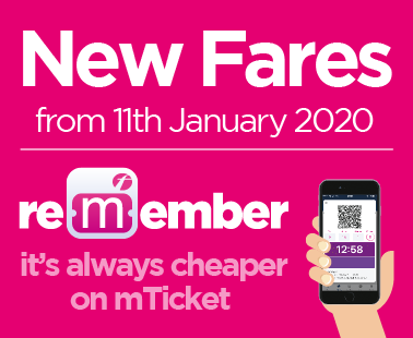 New fares from 11th January 2020