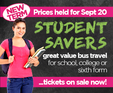 student savers - new term tickets on sale now