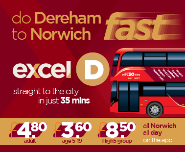 do Dereham to Norwich fast with excel D