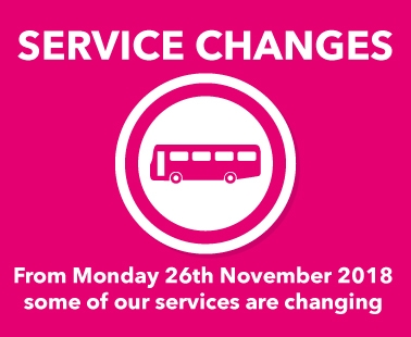Service Changes from Monday 26th November
