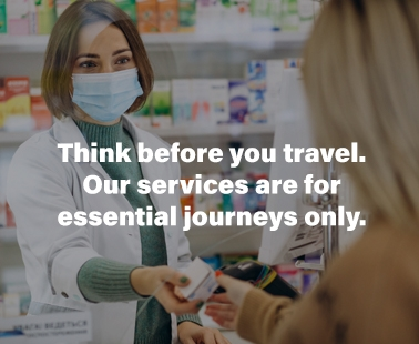 Essential journeys only