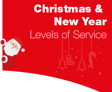 Christmas & New Year - Levels of service