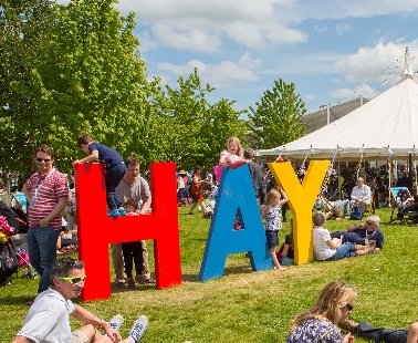 Get to the Hay Festival by bus