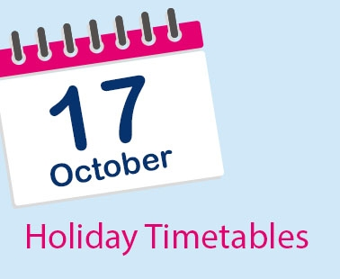 Holiday timetables in operation from 17 October