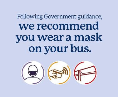 We recommend you wear a face covering