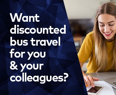 Want discounted bus travel for you and your colleagues?