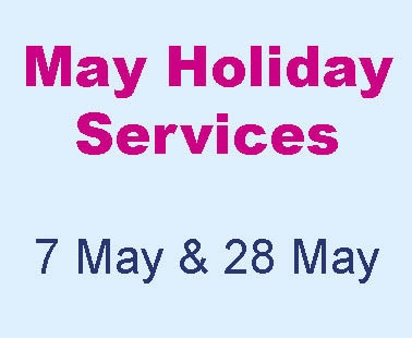 May holiday services