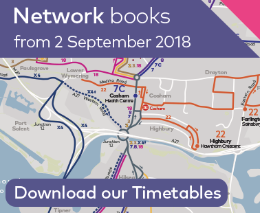 Download our new timetable books - 2 Sept 2018