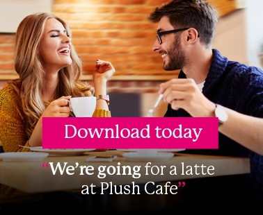 We're going for a latte at Plush Cafe - Download the First Bus App