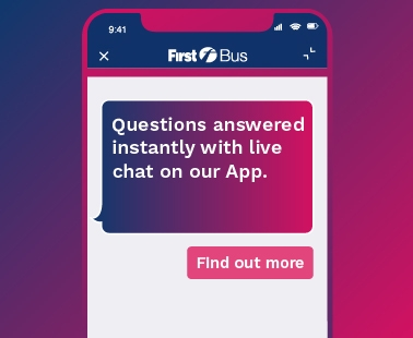 Live chat on the First Bus App