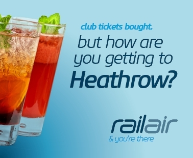 Club tickets bought, but how are you getting to heathrow? Railair and you're there.