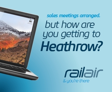 Sales meetings arranged, but how are you getting to heathrow? Railair and you're there.