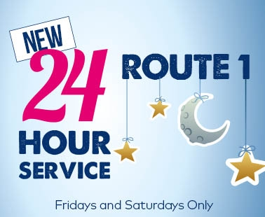 New 24hr service on route 1