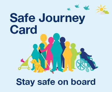 Safe journey  card - Stay safe on board
