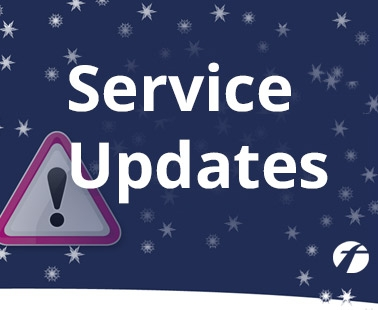 service updates and travel advice during adverse weather