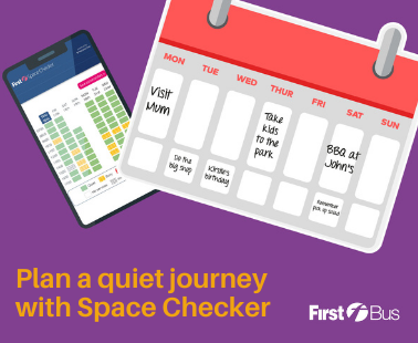 Plan a quiet journey with space checker