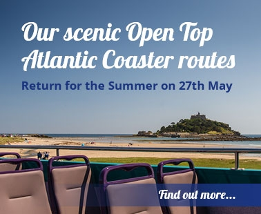 Our scenice open top atlantic couaster routes return for the summer on 27th May, find out more..