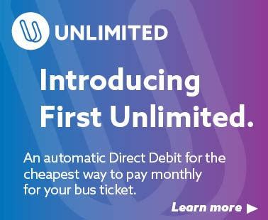 Introducing First Unlimited, Direct Debit payment for monthly bus tickets