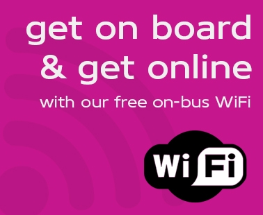 Get on board & get online with our free on-bus WiFi