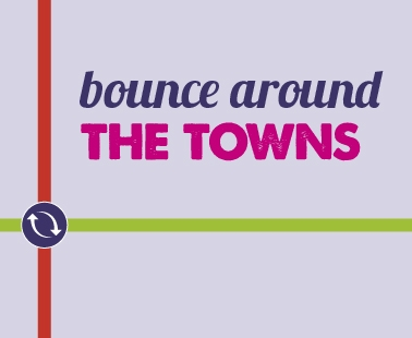 Bounce around the towns