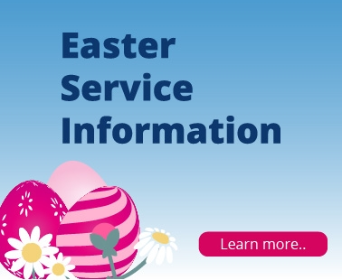 Easter Bank Holiday Services 2019