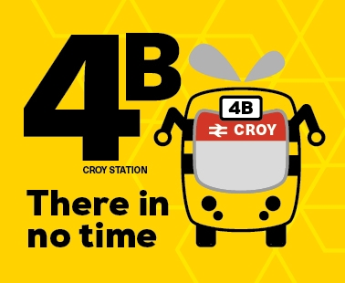 Service 4B There in no time - Croy Station