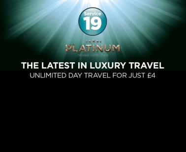Catch our luxury Platinum services for just £4 a day