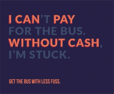 I can pay without cash. MTickets, get the bus with less fuss