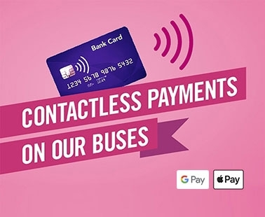 Contactless payments on our buses