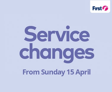 Service changes from Sunday 15 April