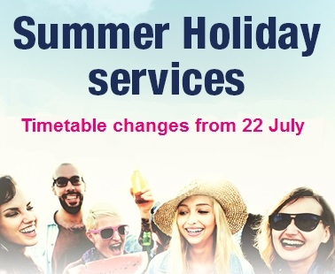summer holiday service changes