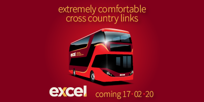 Image for 'excel - a new standard in travel comfort - arriving Spring 2020'