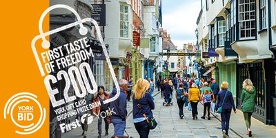 Image for 'Win a £200 shopping spree in York'