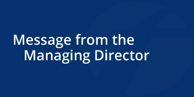 Image for 'Message from the Managing Director'