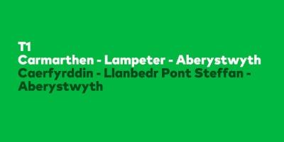Image for 'Traws Cymru T1 Aberystwyth - Lampeter - Carmarthen'