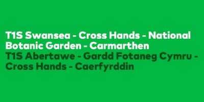 Image for 'Traws Cymru T1S Swansea - Cross Hands - National Botanic Garden - Carmarthen'