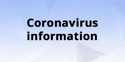 Image for 'Coronavirus - COVID19: Service information'